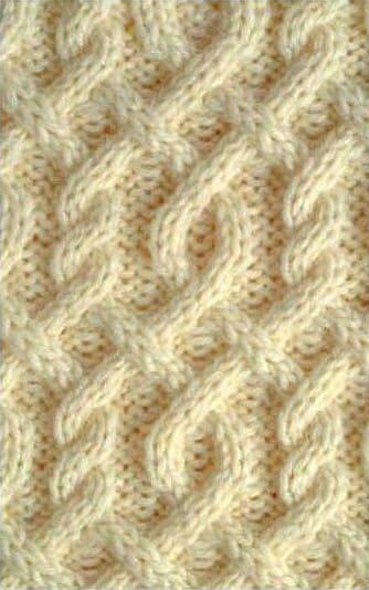 Кельтский аран на спицах