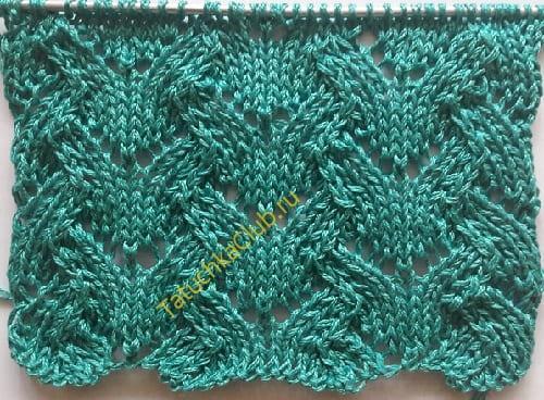 Рисунок волна - вязание