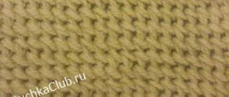 Схема эфиопской резинки спицами