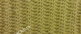 Кукурузная резинка спицами