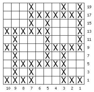 Схема ленивого черно белого узора