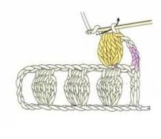 Как связать шишечку для объемного берета
