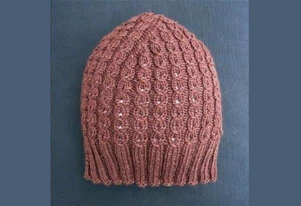 Розовая шапка Трюфель для женщин