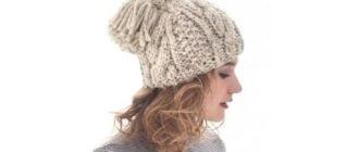 Женская шапка с кисточкой