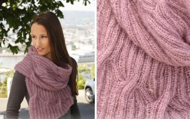 Объемный мохеровый шарфик