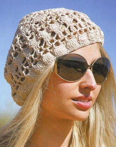 Женская летняя шапка берет