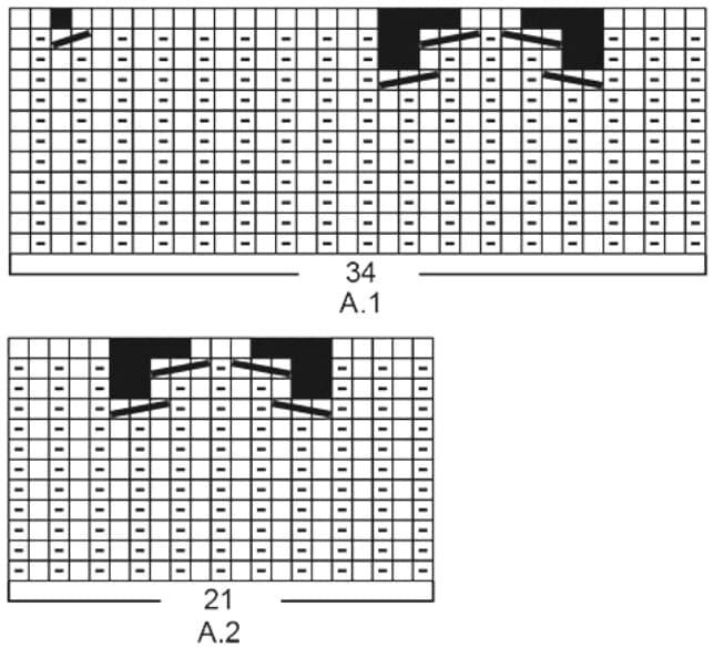 Схема вязания для ажурного палантина листиками