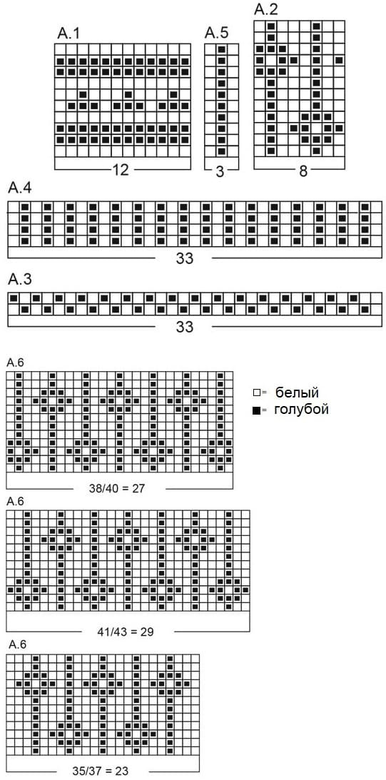 Схема вязаных носков от Drops