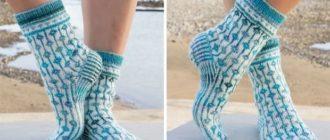 Вязаные носки от Drops