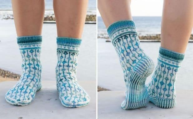 Женские носки от Drops спицами