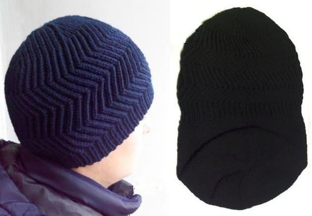 Темно синяя шапка