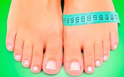 Как измерить объем стопы