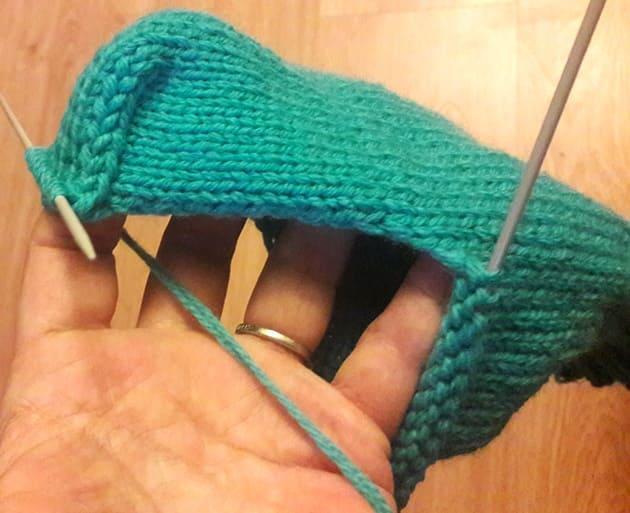 Как вязать пятку носка на 5 спицах