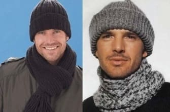 Мужские шапочки с отворотом