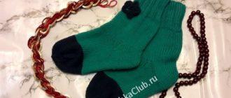 Простые носки для начинающих на 5 спицах
