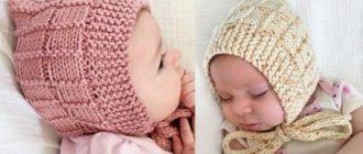 Шапка на новорожденного из прямоугольника