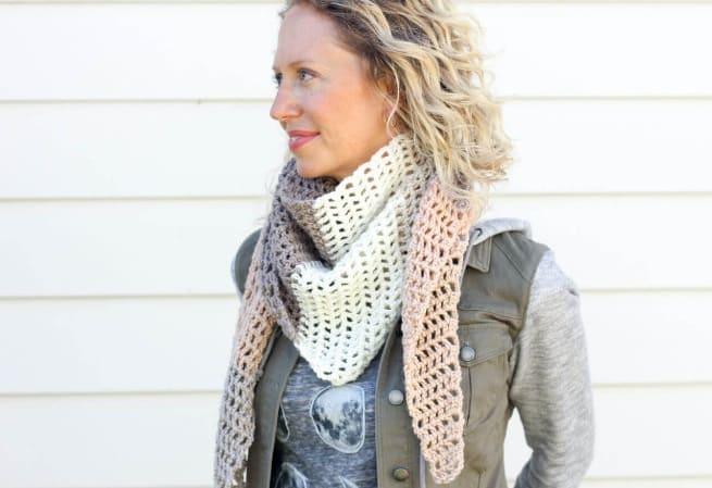 Треугольный шарф