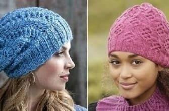 Женские вязаные шапочки на осень