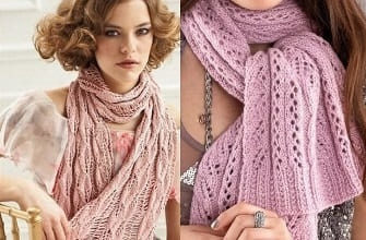 Ажурные женские шарфики