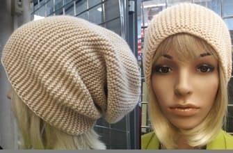 Укороченные ряды для шапки