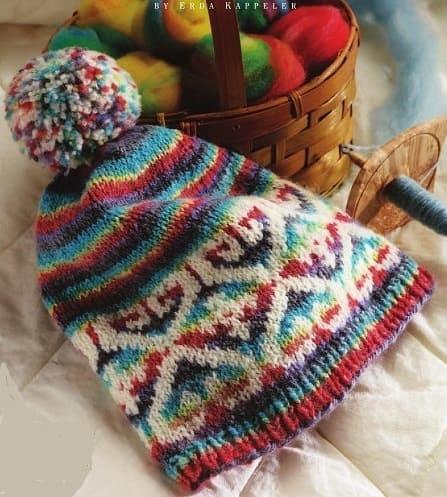 Жаккардовый узор на шапку