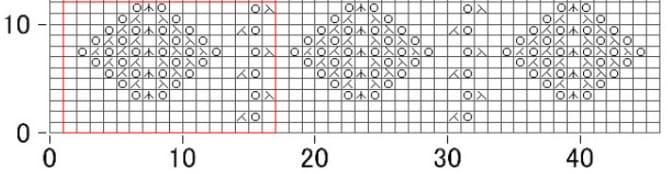 Схема к ажуру из изнаночных