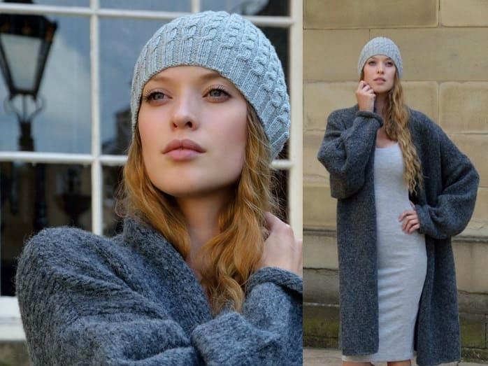 Простая и красивая шапка