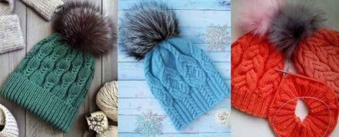 Три шапки с косами