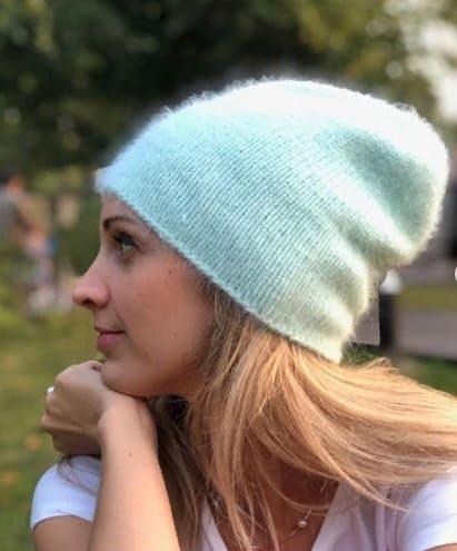 Весенняя шапочка из норки