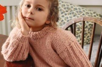 Свитер на девочку с пышным рукавом